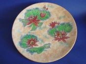 Rare Royal Doulton 'Water Lily - Mottled Ground' Wall Plaque D6343 c1950